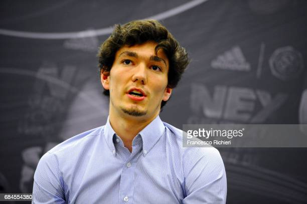 Cedi Osman during the 2017 Euroleague Basketball ANGT Players Educational Session at Sinan Erdem Dome on May 18 2017 in Istanbul Turkey