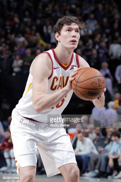 Cedi Osman of the Cleveland Cavaliers attempts a freethrow shot against the Sacramento Kings on December 27 2017 at Golden 1 Center in Sacramento...