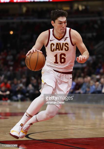 Cedi Osman of the Cleveland Cavaliers drives against the Chicago Bulls at the United Center on January 27 2019 in Chicago Illinois The Cavaliers...
