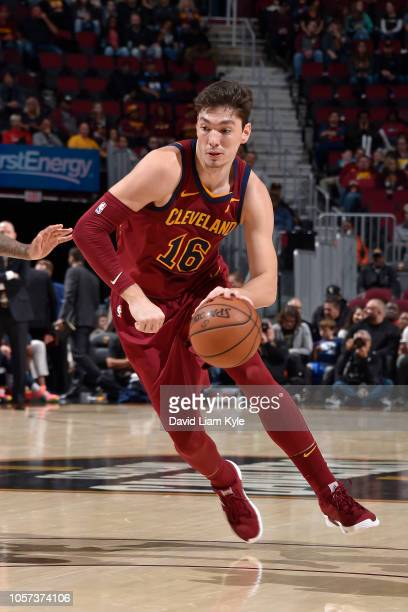 Cedi Osman of the Cleveland Cavaliers drives to the basket against the Denver Nuggets of the Cleveland Cavaliers on November 1 2018 at the Quicken...