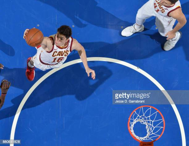 Cedi Osman of the Cleveland Cavaliers grabs the rebound against the Philadelphia 76ers at Wells Fargo Center on November 27 2017 in Philadelphia...