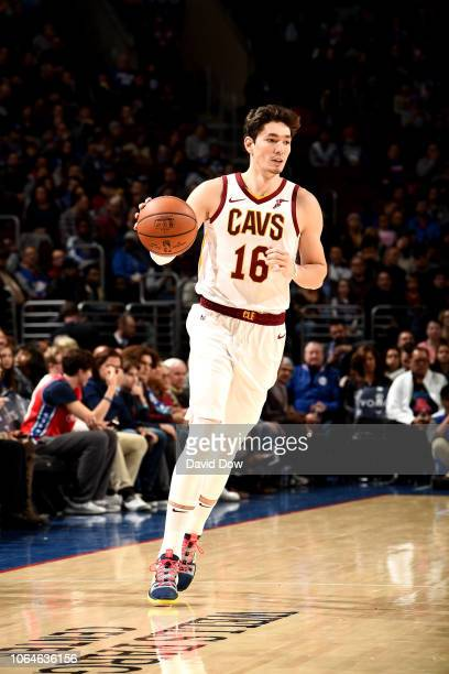 Cedi Osman of the Cleveland Cavaliers handles the ball against the Philadelphia 76ers on November 23 2018 at the Wells Fargo Center in Philadelphia...