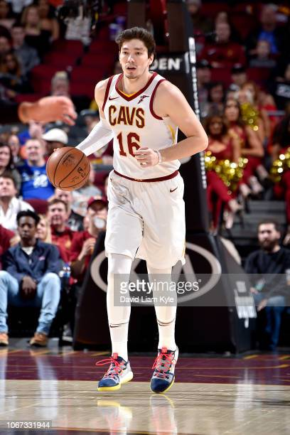 Cedi Osman of the Cleveland Cavaliers handles the ball against the Toronto Raptors on December 1 2018 at Quicken Loans Arena in Cleveland Ohio NOTE...