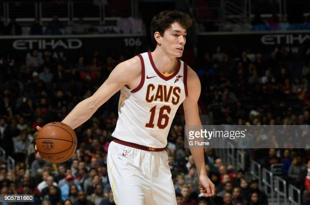 Cedi Osman of the Cleveland Cavaliers handles the ball against the Washington Wizards at Capital One Arena on December 17 2017 in Washington DC NOTE...