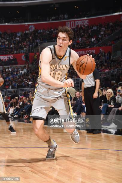 Cedi Osman of the Cleveland Cavaliers handles the ball against the LA Clippers on March 9 2018 at STAPLES Center in Los Angeles California NOTE TO...