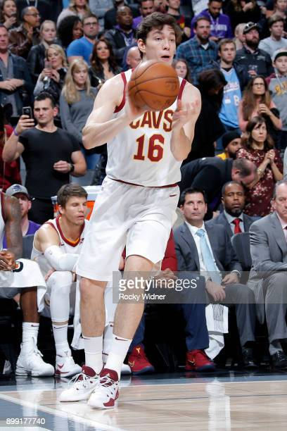 Cedi Osman of the Cleveland Cavaliers passes the ball against the Sacramento Kings on December 27 2017 at Golden 1 Center in Sacramento California...