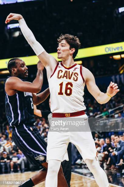 Cedi Osman of the Cleveland Cavaliers puts up a shot against the Orlando Magic in the 3rd quarter at Amway Center on October 23 2019 in Orlando...