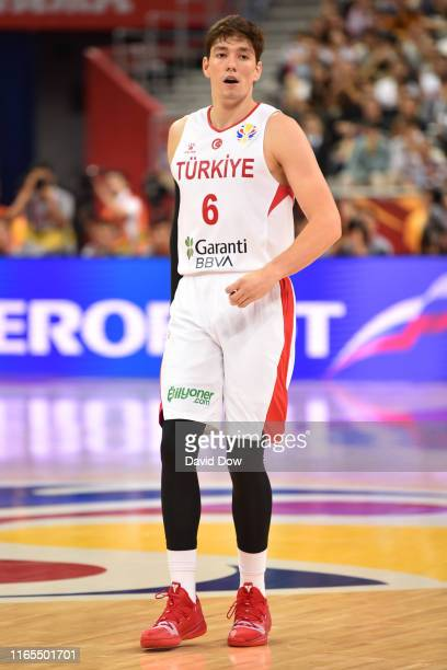 Cedi Osman of Turkey looks on during the First Round of the 2019 FIBA Basketball World Cup on September 1 2019 at the Shanghai Oriental Sports Center...