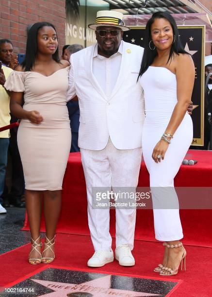 Cedric Antonio Kyles aka Cedric The Entertainer and his wife Lorna Wells with their daugther Lucky Rose Kyles attend the ceremony honoring him with a...
