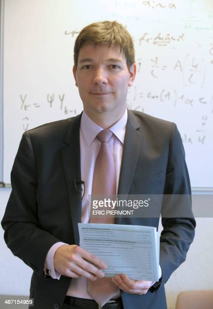 Cedric Audenis, head of the Short-Term Economic Analysis poses at the French National statistics institute INSEE headquarters in Malakoff, Suburbs of...