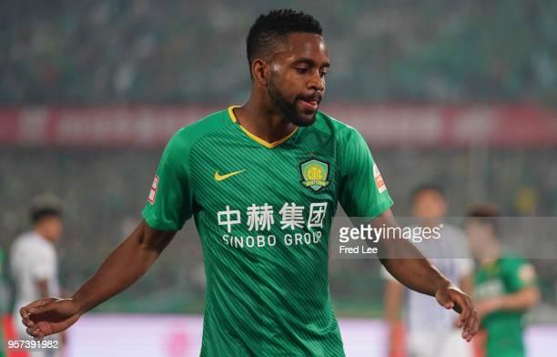 Cedric Bakambu of Beijing Guoan in action during 2018 China Super League match between Beijing Guoan and Guangzhou RF at Beijing Workers Stadium on...