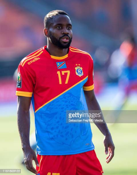 Cedric Bakambu of DR Congo looks on during the 2019 Africa Cup of Nations Group A match between DR Congo and Uganda at Cairo International Stadium on...