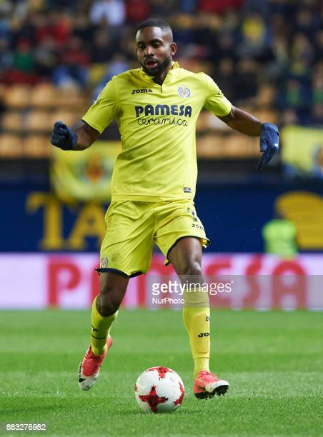 Cedric Bakambu of Villarreal CF during the Copa del Rey Round of 32 Second Leg match between Villarreal CF and SD Ponferradina at Estadio de la...
