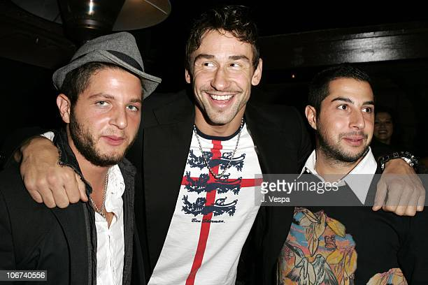Cedric Beneroch Marko Jaric and Yves Beneroch during Steve Madden Presents The 2 B Free 2005 Spring Collection Front Row and Backstage at Private...