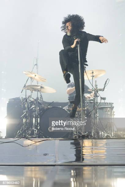 Cedric Bixler of At The Drive In perform at The SSE Hydro on November 24 2017 in Glasgow Scotland