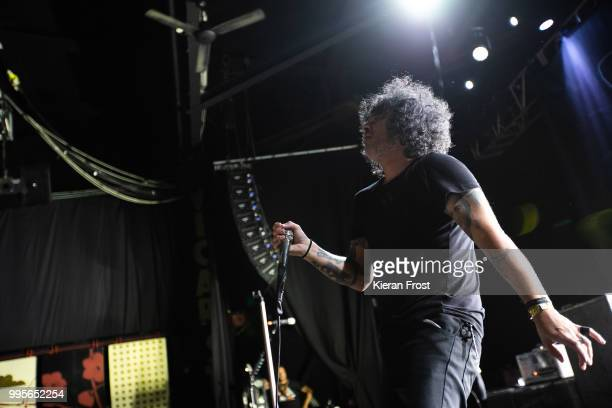 Cedric Bixler of At The Drive In performs at Vicar Street on July 10 2018 in Dublin Ireland