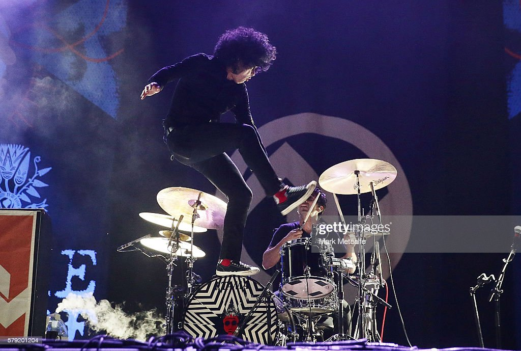 Cedric Bixler-Zavala of At the Drive-In performs during Splendour in the Grass 2016 on July 23, 2016 in Byron Bay, Australia.