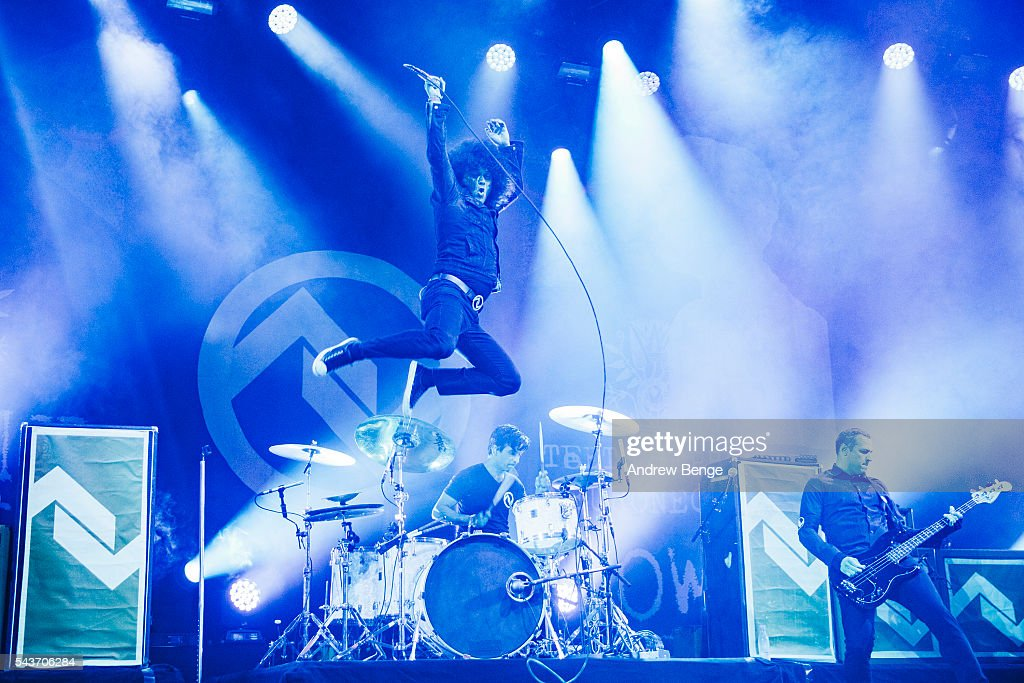 Cedric Bixler-Zavala of At The Drive-In performs on the Arena stage during Roskilde Festival 2016 on June 29, 2016 in Roskilde, Denmark.
