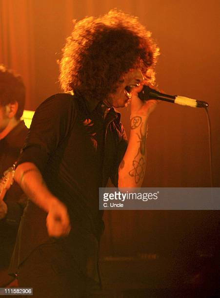Cedric BixlerZavala of The Mars Volta during All Tomorrows Parties Before Christmas December 4 2005 at Camber Sands Holiday Centre in Hastings East...