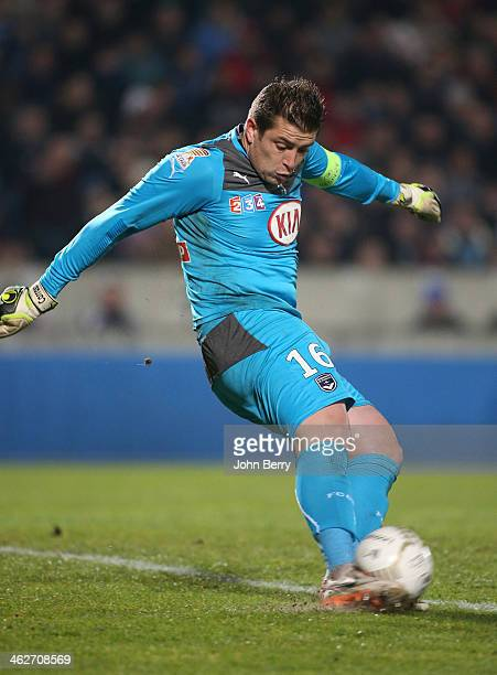Cedric Carrasso goalkeeper of Bordeaux in action during the french League Cup match between FC Girondins de Bordeaux and Paris SaintGermain FC at the...
