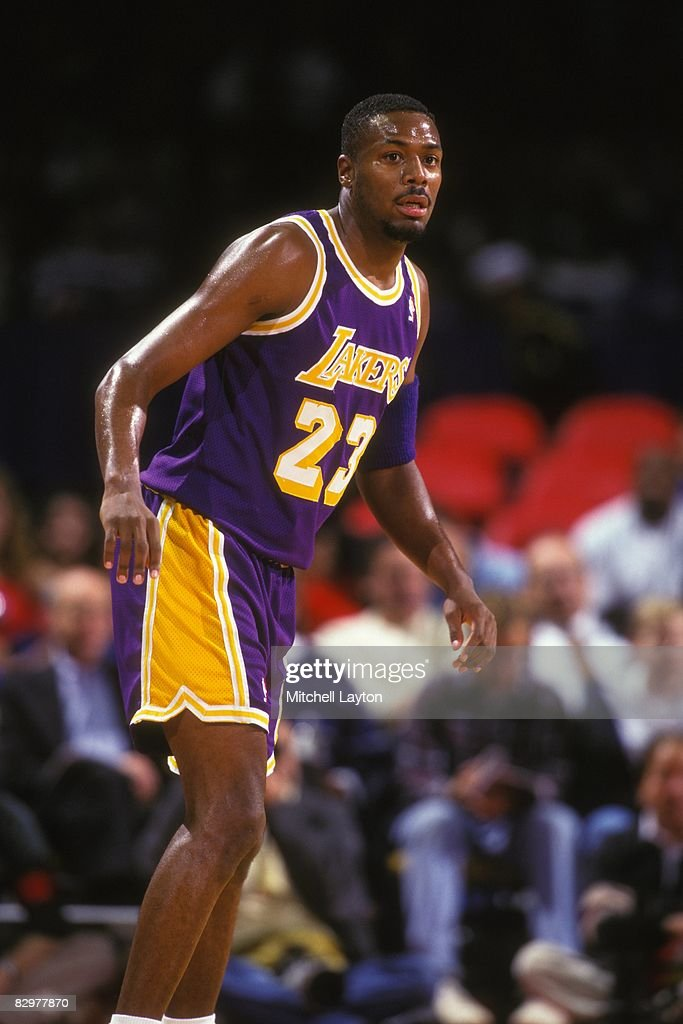 0177d7285 Cedric Ceballos of the Los Angeles Lakers during a NBA basketball ...