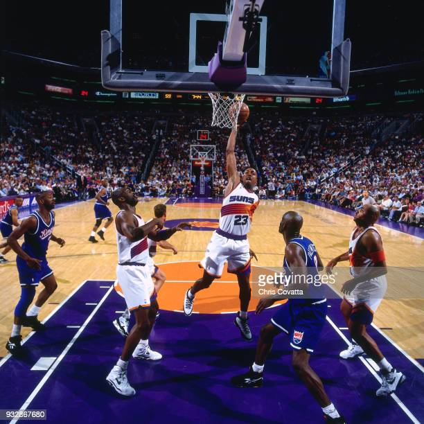Cedric Ceballos of the Phoenix Suns shoots on April 23 1994 at America West Arena in Phoenix Arizona NOTE TO USER User expressly acknowledges and...