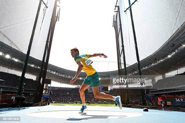 Cedric Dubler of Australia competes in the Men's Decathlon Discus Throw on Day 13 of the Rio 2016 Olympic Games at the Olympic Stadium on August 18...