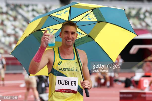 Cedric Dubler of Team Australia poses on day twelve of the Tokyo 2020 Olympic Games at Olympic Stadium on August 04, 2021 in Tokyo, Japan.