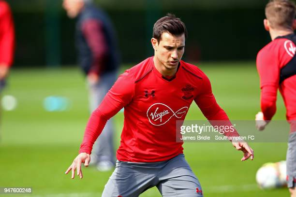 Cedric during a Southampton FC training session at Staplewood Complex on April 17 2018 in Southampton England