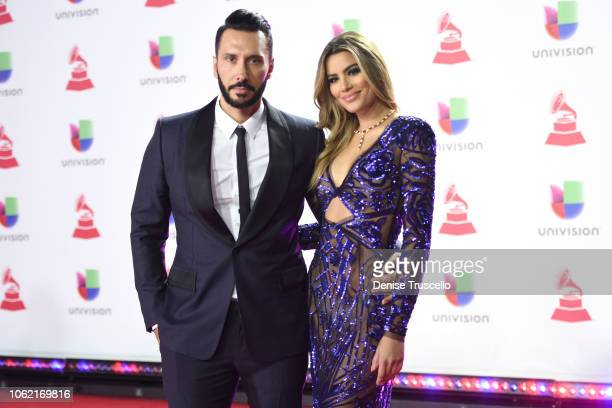 Cedric Gervais and Ariadna Gutierrez attend the 19th annual Latin GRAMMY Awards at MGM Grand Garden Arena on November 15 2018 in Las Vegas Nevada