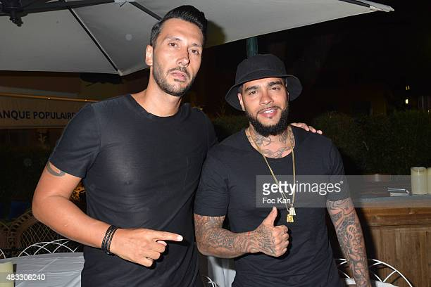 Cedric Gervais and DJ Timati attend the Cedric Gervais DJ Set Party at the VIP Room Saint Tropez on August 6 2015 in SaintTropez France