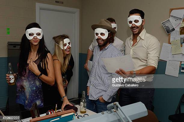 Cedric Gervais and guests attend exclusive launch of Oculto Manor an interactive masked event in Miami celebrating the introduction of Oculto a...