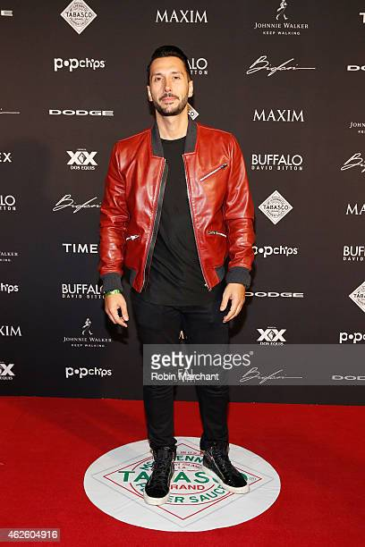 Cedric Gervais celebrates bold moments with Tabasco at the MAXIM Party on January 31 2015 in Phoenix Arizona