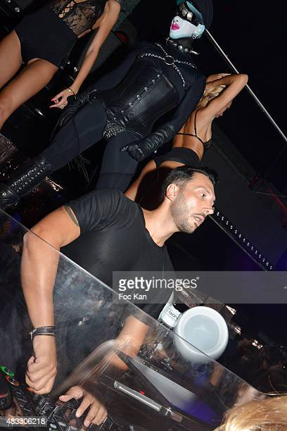 Cedric Gervais performs during the Cedric Gervais DJ Set Party at the VIP Room Saint Tropez on August 6 2015 in SaintTropez France