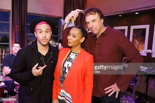 NIGHT 'Cedric Gives Niecy A Hand' Episode 309 Pictured Pete Wentz Mel B Kevin Nealon