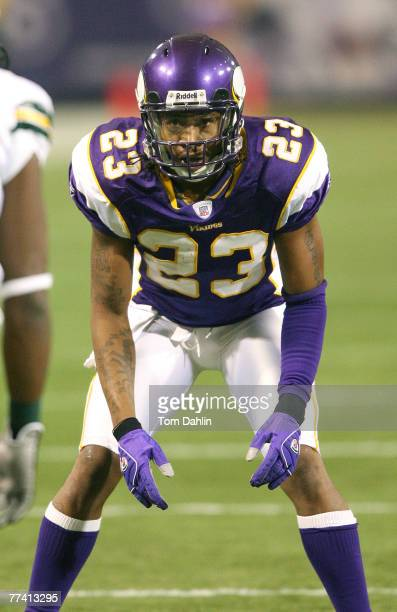 Cedric Griffin in action during the game between the Green Bay Packers and the Minnesota Vikings at the HHH Metrodome Minneapolis MN on November 12...