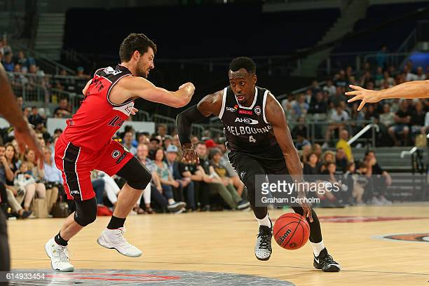 Cedric Jackson of Melbourne United in action during the round two NBL match between Melbourne United and the Illawarra Hawks on October 16, 2016 in...
