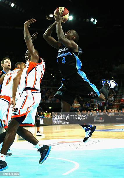 Cedric Jackson of the Breakers shoots during the round 11 NBL match between the New Zealand Breakers and the Cairns Taipans at Vector Arena on...