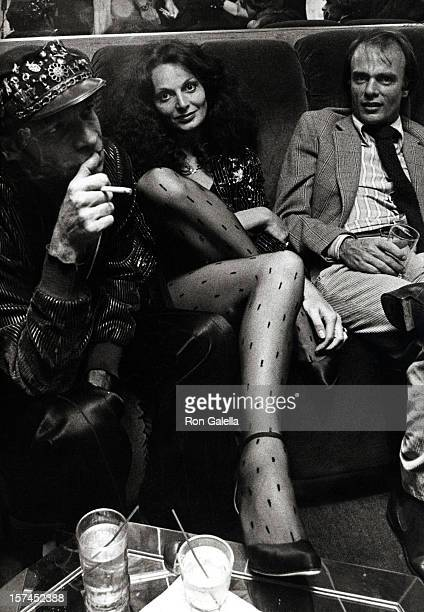 Ara Gallant and Diane von Furstenberg attend the party for Egon Von Furstenberg's Book 'The Power Look' on September 25 1978 at Studio 54 in New york...