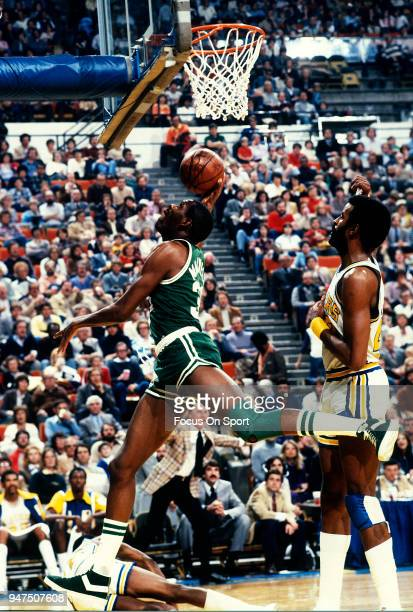 Cedric Maxwell of the Boston Celtics in action against the Indiana Pacers during an NBA basketball game circa 1980 at Market Square Arena in...