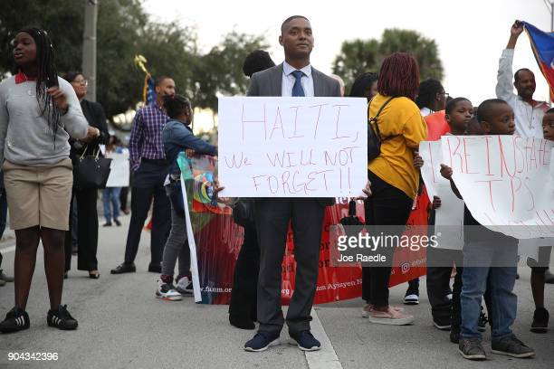 Cedric McMinn joins with others to mark the 8th anniversary of the massive earthquake in Haiti and to condemn President Donald Trump's reported...