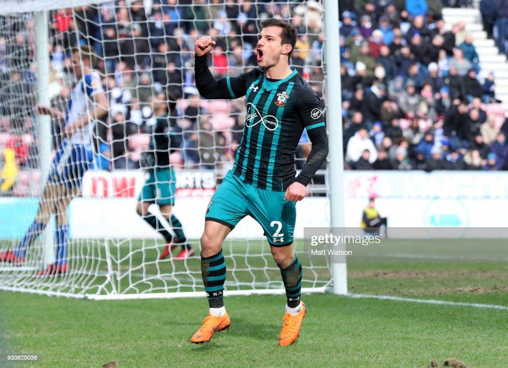 Wigan Athletic v Southampton - The Emirates FA Cup Quarter Final : News Photo
