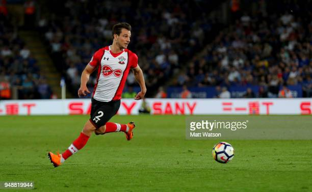 Cedric of Southampton during the Premier League match between Leicester City and Southampton at The King Power Stadium on April 19 2018 in Leicester...