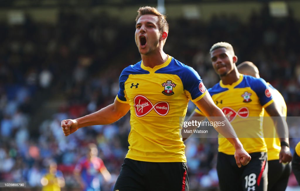 Cedric of Southampton during the Premier League match between Crystal Palace and Southampton FC at Selhurst Park on September 1, 2018 in London, United Kingdom.