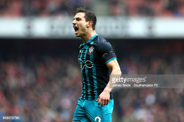 Cedric of Southampton FC during the Premier League match between Arsenal and Southampton at Emirates Stadium on April 8 2018 in London England