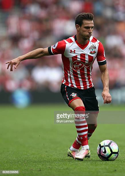 Cedric of Southampton in action during the Premier League match between Southampton and Swansea City at St Mary's Stadium on September 18 2016 in...