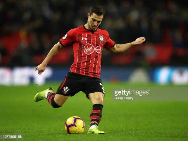Cedric of Southamton in action during the Premier League match between Tottenham Hotspur and Southampton FC at Tottenham Hotspur Stadium on December...