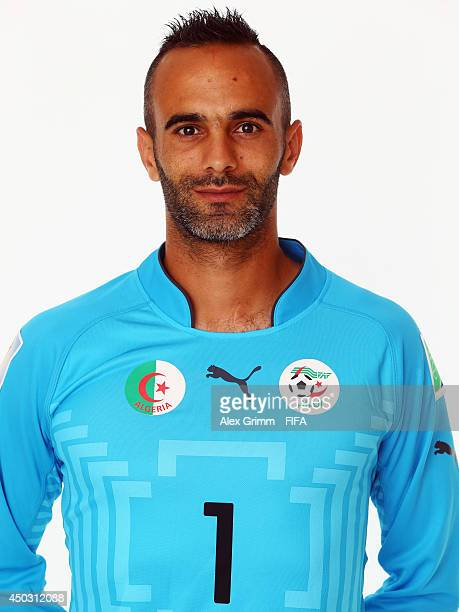 Cedric Si Mohammed of Algeria poses during the official FIFA World Cup 2014 portrait session on June 8 2014 in Sao Paulo Brazil