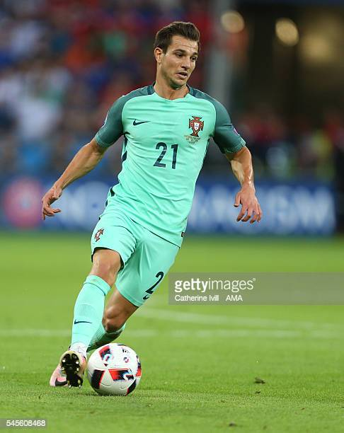 Cedric Soares of Portugal during the UEFA Euro 2016 semi final match between Portugal and Wales at Stade des Lumieres on July 6 2016 in Lyon France