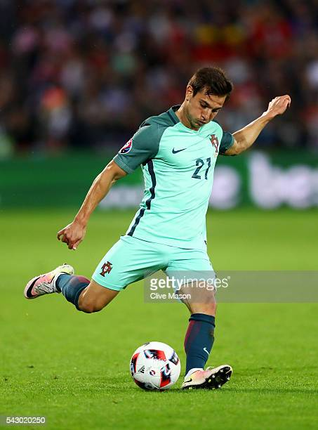 Cedric Soares of Portugal in action during the UEFA EURO 2016 round of 16 match between Croatia and Portugal at Stade BollaertDelelis on June 25 2016...
